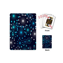 Digitally Created Snowflake Pattern Background Playing Cards (Mini)