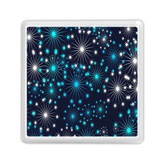 Digitally Created Snowflake Pattern Background Memory Card Reader (square)