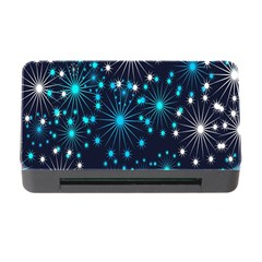 Digitally Created Snowflake Pattern Background Memory Card Reader With Cf