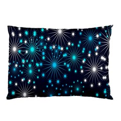 Digitally Created Snowflake Pattern Background Pillow Case (Two Sides)