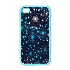 Digitally Created Snowflake Pattern Background Apple iPhone 4 Case (Color)