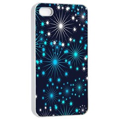Digitally Created Snowflake Pattern Background Apple iPhone 4/4s Seamless Case (White)