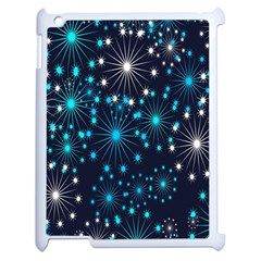 Digitally Created Snowflake Pattern Background Apple iPad 2 Case (White)