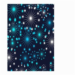 Digitally Created Snowflake Pattern Background Small Garden Flag (two Sides)