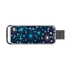 Digitally Created Snowflake Pattern Background Portable USB Flash (Two Sides)
