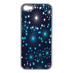 Digitally Created Snowflake Pattern Background Apple Iphone 5 Case (silver)