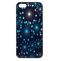 Digitally Created Snowflake Pattern Background Apple iPhone 5 Seamless Case (Black)