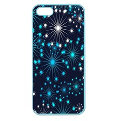 Digitally Created Snowflake Pattern Background Apple Seamless Iphone 5 Case (color)