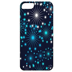 Digitally Created Snowflake Pattern Background Apple iPhone 5 Classic Hardshell Case