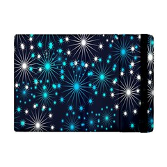 Digitally Created Snowflake Pattern Background Apple iPad Mini Flip Case