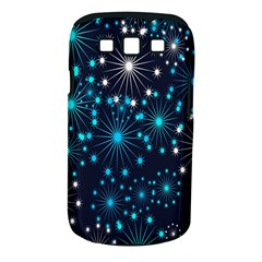Digitally Created Snowflake Pattern Background Samsung Galaxy S III Classic Hardshell Case (PC+Silicone)