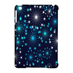 Digitally Created Snowflake Pattern Background Apple Ipad Mini Hardshell Case (compatible With Smart Cover)