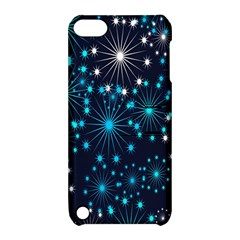 Digitally Created Snowflake Pattern Background Apple iPod Touch 5 Hardshell Case with Stand