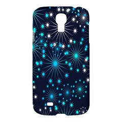 Digitally Created Snowflake Pattern Background Samsung Galaxy S4 I9500/I9505 Hardshell Case