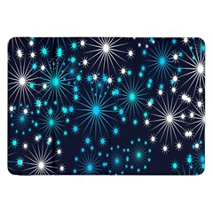 Digitally Created Snowflake Pattern Background Samsung Galaxy Tab 8.9  P7300 Flip Case