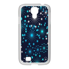 Digitally Created Snowflake Pattern Background Samsung Galaxy S4 I9500/ I9505 Case (white)