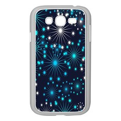 Digitally Created Snowflake Pattern Background Samsung Galaxy Grand Duos I9082 Case (white)