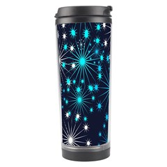 Digitally Created Snowflake Pattern Background Travel Tumbler