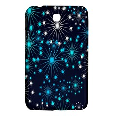 Digitally Created Snowflake Pattern Background Samsung Galaxy Tab 3 (7 ) P3200 Hardshell Case
