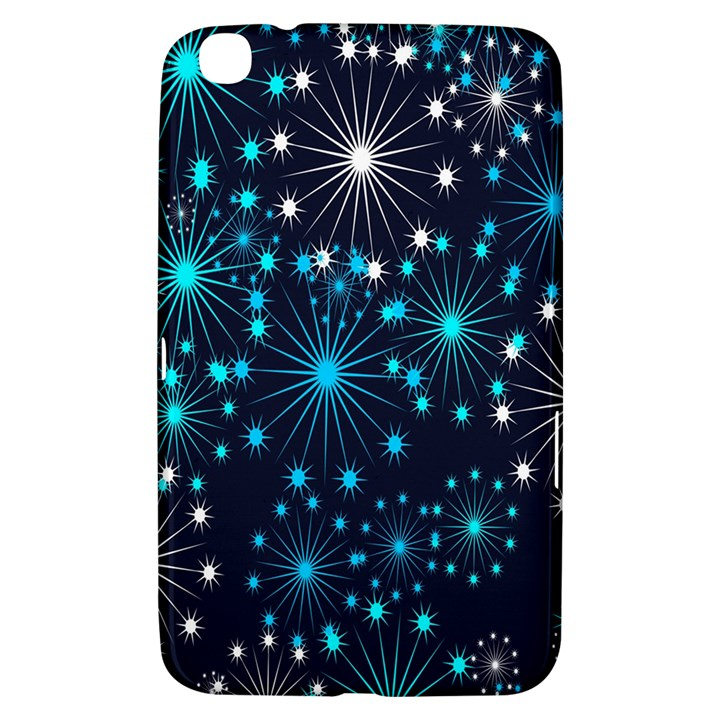 Digitally Created Snowflake Pattern Background Samsung Galaxy Tab 3 (8 ) T3100 Hardshell Case