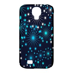 Digitally Created Snowflake Pattern Background Samsung Galaxy S4 Classic Hardshell Case (pc+silicone)