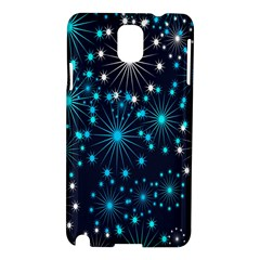 Digitally Created Snowflake Pattern Background Samsung Galaxy Note 3 N9005 Hardshell Case