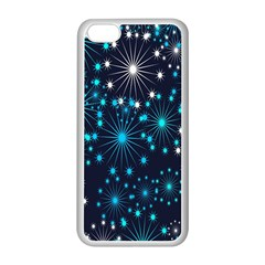 Digitally Created Snowflake Pattern Background Apple Iphone 5c Seamless Case (white)