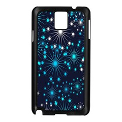 Digitally Created Snowflake Pattern Background Samsung Galaxy Note 3 N9005 Case (black)