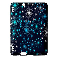 Digitally Created Snowflake Pattern Background Kindle Fire HDX Hardshell Case