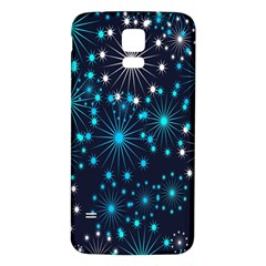 Digitally Created Snowflake Pattern Background Samsung Galaxy S5 Back Case (White)