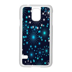 Digitally Created Snowflake Pattern Background Samsung Galaxy S5 Case (white)