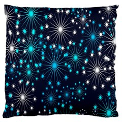 Digitally Created Snowflake Pattern Background Large Flano Cushion Case (One Side)
