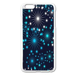 Digitally Created Snowflake Pattern Background Apple iPhone 6 Plus/6S Plus Enamel White Case