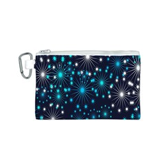 Digitally Created Snowflake Pattern Background Canvas Cosmetic Bag (s)