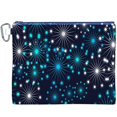 Digitally Created Snowflake Pattern Background Canvas Cosmetic Bag (xxxl)