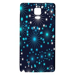 Digitally Created Snowflake Pattern Background Galaxy Note 4 Back Case