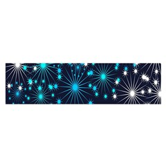 Digitally Created Snowflake Pattern Background Satin Scarf (Oblong)