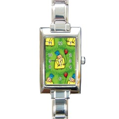 Party Kid A Completely Seamless Tile Able Design Rectangle Italian Charm Watch
