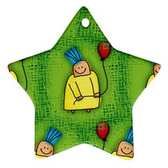 Party Kid A Completely Seamless Tile Able Design Ornament (Star)