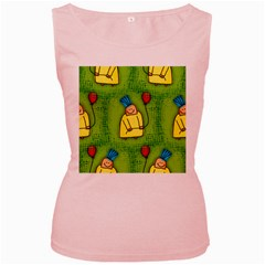 Party Kid A Completely Seamless Tile Able Design Women s Pink Tank Top