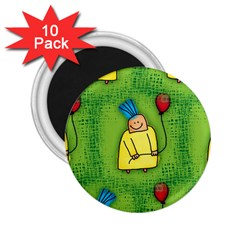 Party Kid A Completely Seamless Tile Able Design 2.25  Magnets (10 pack)
