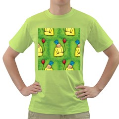 Party Kid A Completely Seamless Tile Able Design Green T-Shirt