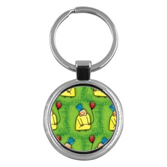 Party Kid A Completely Seamless Tile Able Design Key Chains (Round)