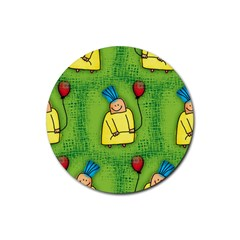 Party Kid A Completely Seamless Tile Able Design Rubber Coaster (round)
