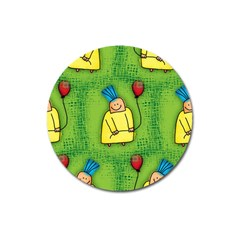 Party Kid A Completely Seamless Tile Able Design Magnet 3  (Round)