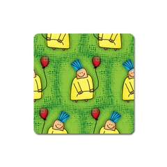 Party Kid A Completely Seamless Tile Able Design Square Magnet