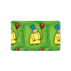 Party Kid A Completely Seamless Tile Able Design Magnet (Name Card)