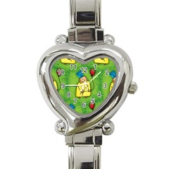 Party Kid A Completely Seamless Tile Able Design Heart Italian Charm Watch