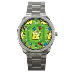 Party Kid A Completely Seamless Tile Able Design Sport Metal Watch