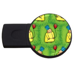Party Kid A Completely Seamless Tile Able Design Usb Flash Drive Round (4 Gb)